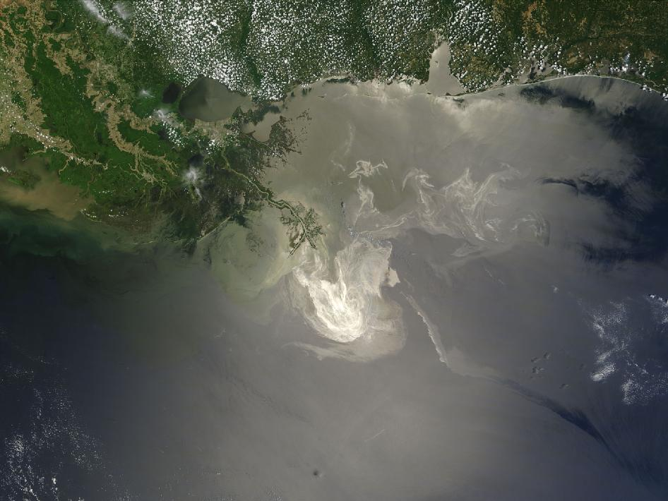 Terra sees the oil spill on May 24, 2010