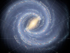 An artist's conception of our Milky Way galaxy.