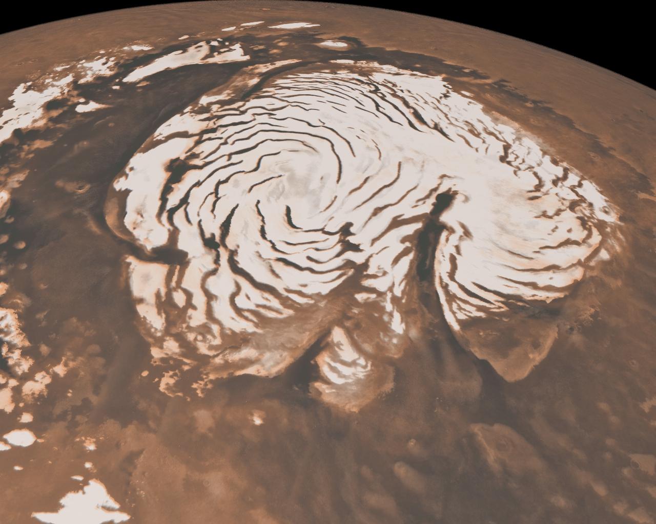 Foto di calotte polari di Marte