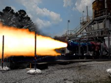 Small scale solid rocket motor test