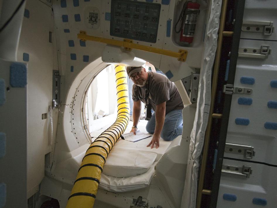 NASA - Working Inside the Shuttle