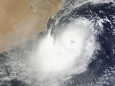 MODIS image of Tropical Cyclone Phet