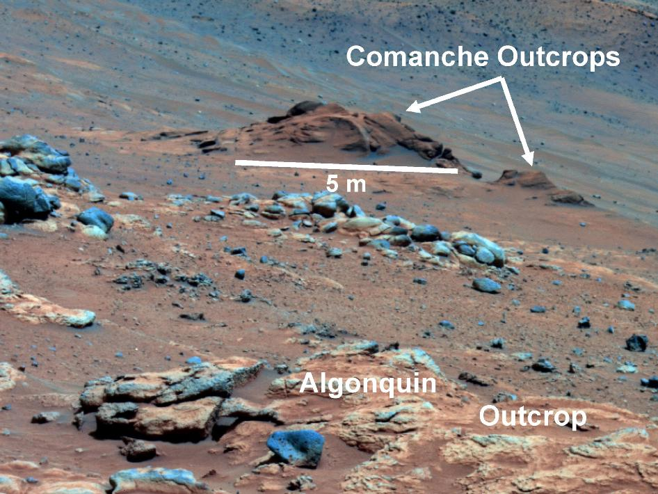 Mars outcrop called 'Comanche'