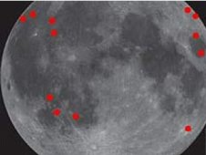 Meteorite risk on the moon graphic