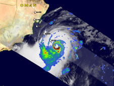 TRMM satellite captures rainfall of subtropical storm Phet.