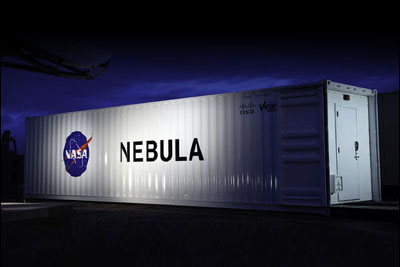 Exterior view of a Nebula container.