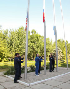 Expedition 24 flag raising ceremony