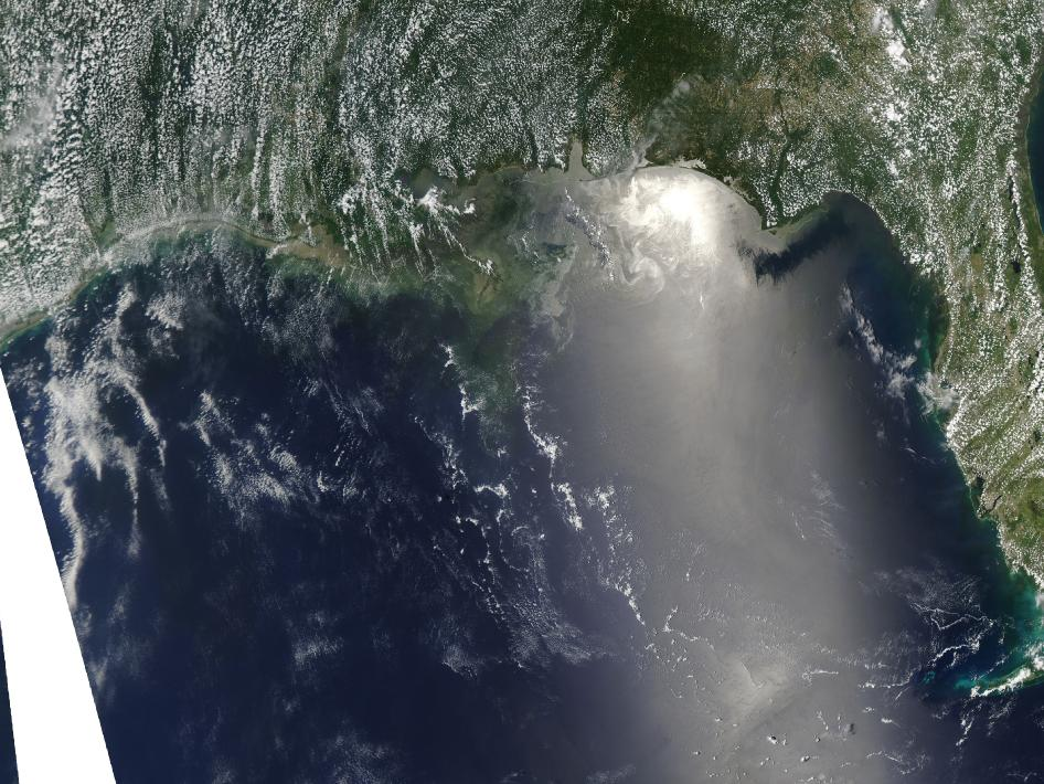 Oil spill image from June 14, 2010