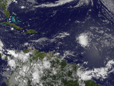 System 92L seen by GOES-13