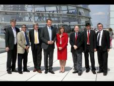 NASA Deputy Administrator Lori Garver poses with members of the German Bundestag