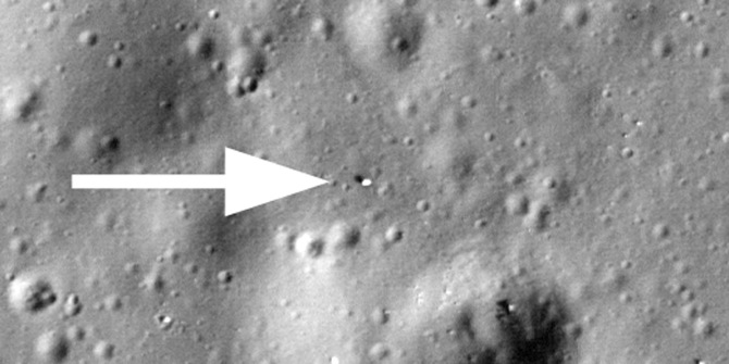 Lunokhod 1 was the name of a Russian robotic rover that landed on the moon in 1970 and lost contact in September 1971. In March 2010, the LROC team found it and contact was made with the rover for the first time in nearly four decades.