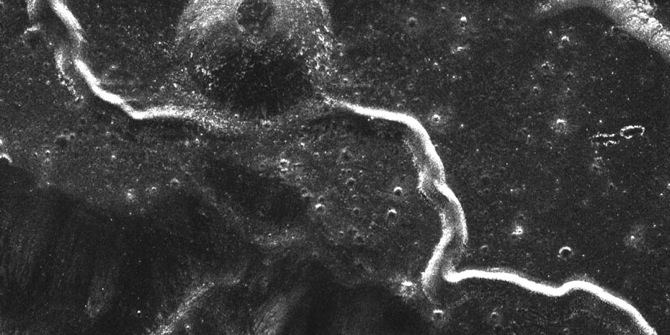 Rilles are long, narrow depressions  on the lunar surface that look like river channels.