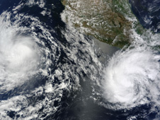 MODIS image of Blas and Celia
