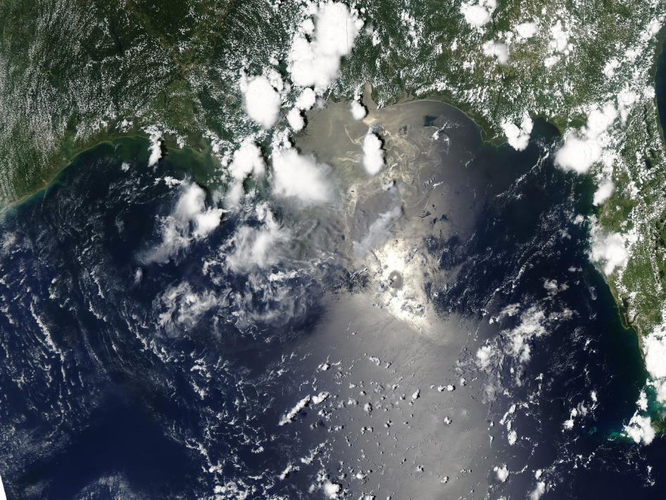 oil spill image from June 21, 2010
