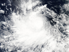 MODIS image of Hurricane Celia.