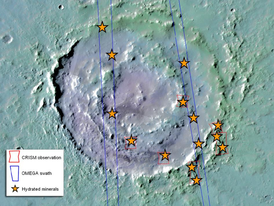 Hydrated minerals at Lyot, northern Mars