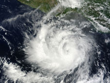 NASA's Terra satellite captured this visible image of Darby as a tropical storm