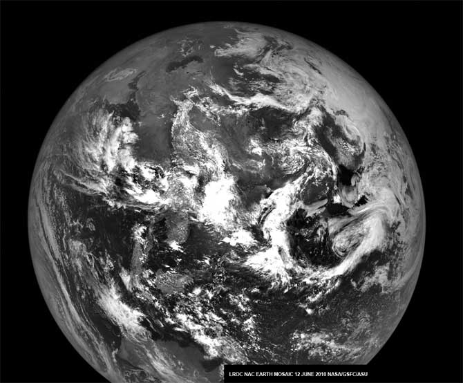 LRO mosaic image of the Earth