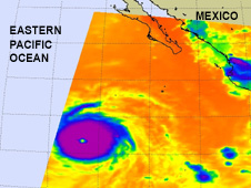 AIRS satellite captures Hurricane Celia