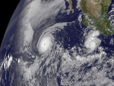 The GOES-13 satellite captures a powerful Hurricane Celia