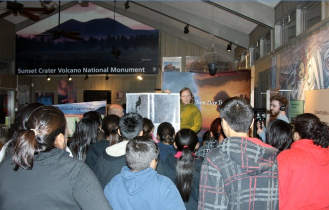 Navajo Nation students and teachers learn about the moon.