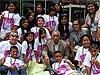 NASA administrator Charles Bolden surrounded by students