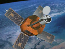 Screen capture of TRACE spacecraft from video