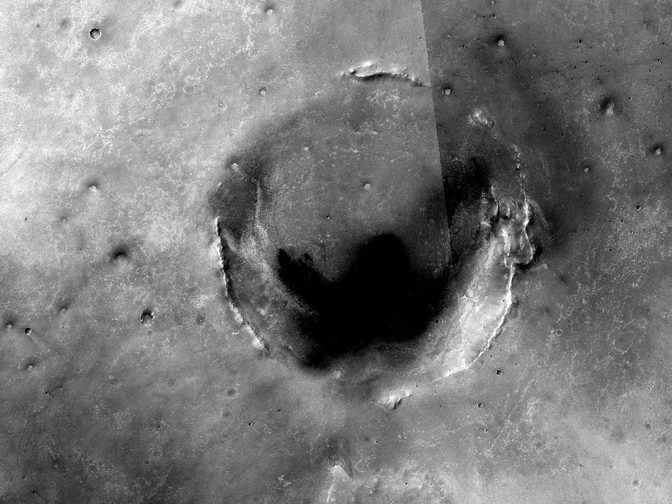 Opportunity amid Mars craters