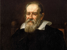 Portrait of Galileo.