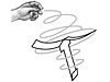 Drawing of a hand releasing a rotor motor