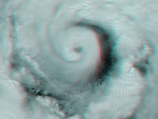3-D MISR view of Hurricane Alex on June 30, 2010