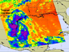 NASA's AIRS instrument captured an infrared look at TD2 as its rains stretched from southeastern Texas to northeastern Mexico.