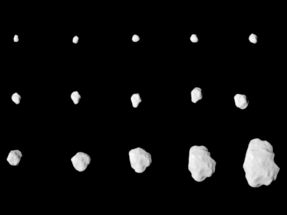 Approach images to asteroid Lutetia