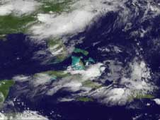 Still from movie showing the Atlantic Basin