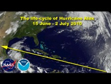 The life of Hurricane Alex as he struggled across hurricane alley for two weeks in June 2010