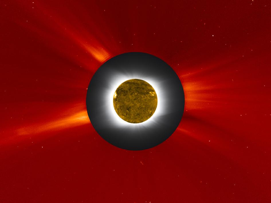 composite image of the 2010 solar eclipse