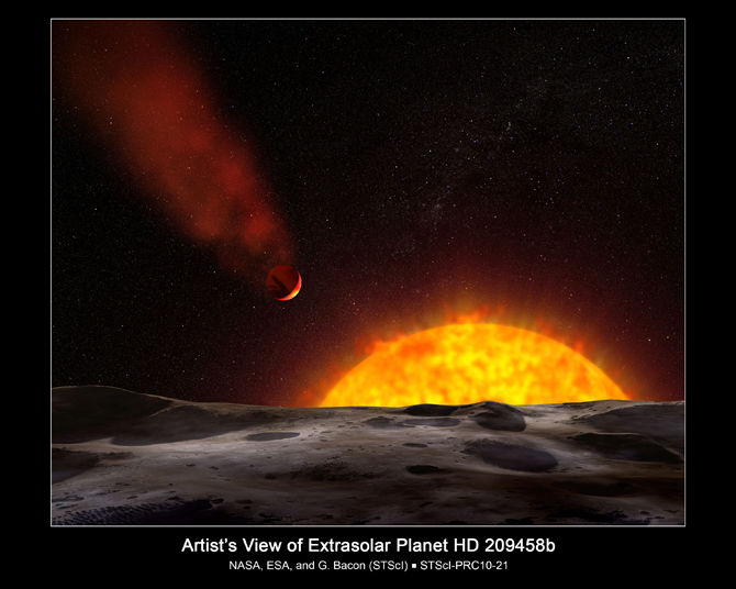 artist concept of exoplanet HD 209458b