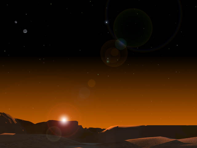 Sunrise On Mars NASA - Pics about space