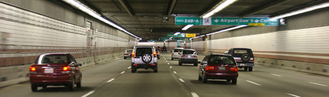 Interstate 93 tunnel in Boston, part of the Big Dig
