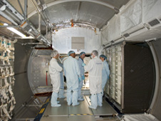 STS-133 crew members participate in CEIT at Kennedy