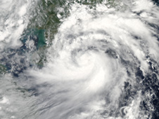 NASA's Aqua satellite captured this visible image of Tropical Storm Chanthu approaching China on July 21.