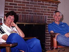 Mike and Donna Mullane at a preflight gather in the astronaut beach house.