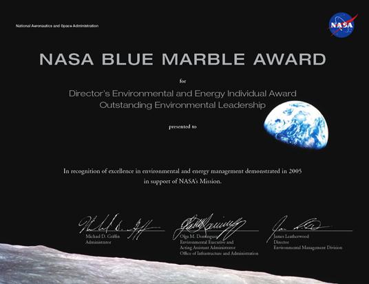 nasa employee certificate - photo #37