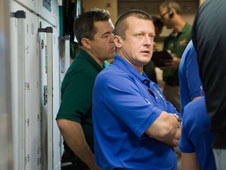 Cosmonauts Dmitry Kondratyev and Oleg Skripochka
