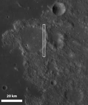 Impact crater on the Moon