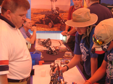 Scouts learn about the fundamentals of robotics.