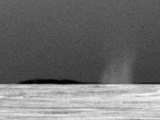 Dust devil on Mars