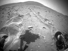 Spirit embedded on Mars