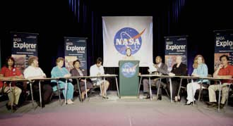 Unveiling of NASA Explorer School Program.