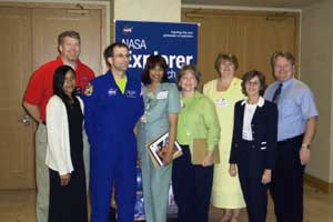 Astronaut Don Pettit with NASA Explorer Schools teachers and staff